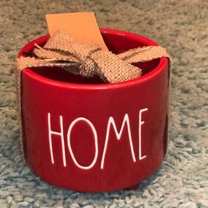 Rae Dunn Red HOME Planter Pot with Feet